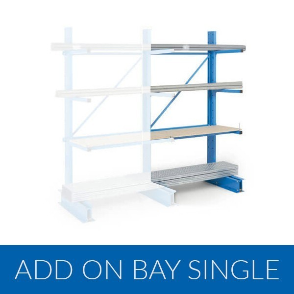 Cantilever Racking Add on Bay Single Sided